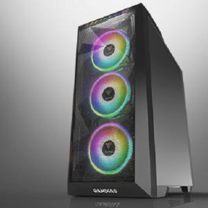 GAMDIAS ATHENA M1 MID TOWER PC CASE CABINET WITH THREE 120 MM ARGB FANS AND MAGNETIC DUST FILTER