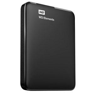 WESTERN DIGITAL ELEMENTS 1TB EXTERNAL HARD DISK DRIVE (BLACK)