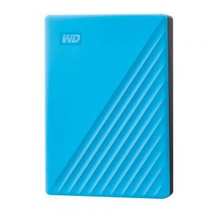 WESTERN DIGITAL MY PASSPORT 4TB EXTERNAL HARD DISK DRIVE (BLUE)