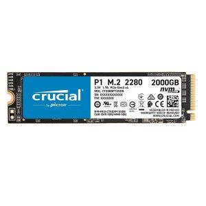 CRUCIAL P1 3D NAND 2 TB M.2 NVMe PCIe INTERNAL SSD